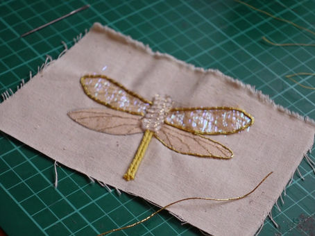 How to thread your gold and metal thread in Goldwork Embroidery.