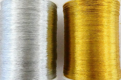Gold and Silver Metallic Thread twin pack
