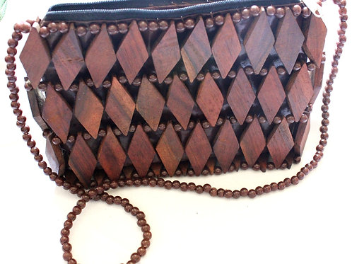 Wood Diamond Bag