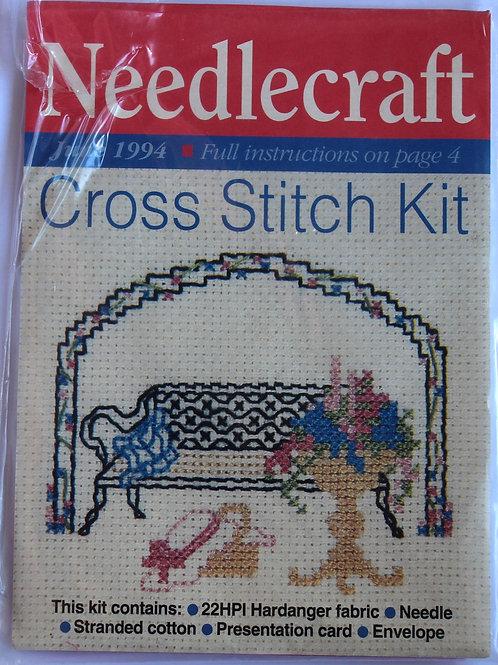 Cross Stitch Kit Garden Scene