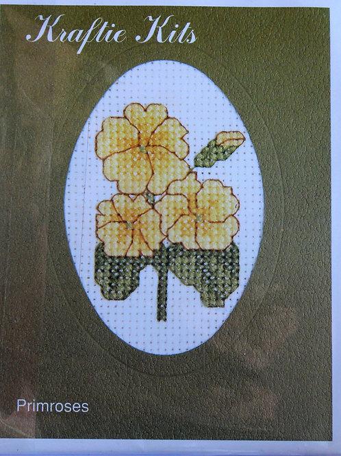Cross Stitch Kit Primrose