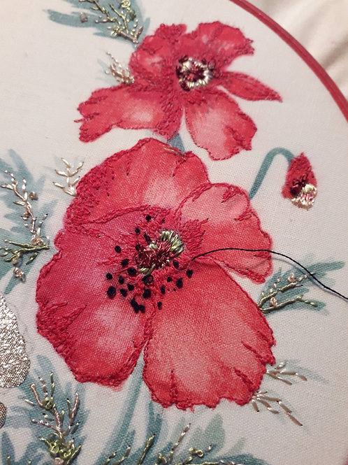 Poppies and Bow Pattern