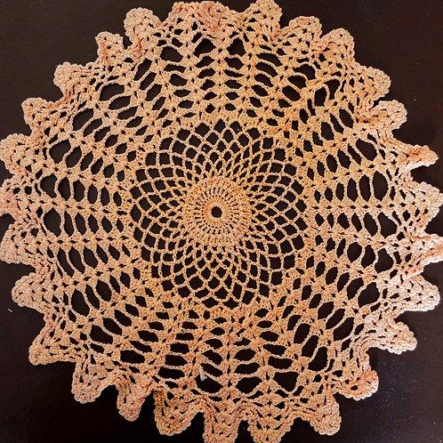 Peach- Cotton Crochet Doily