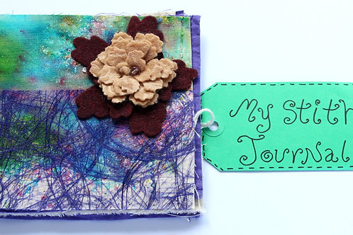 Stitch Journal with flower