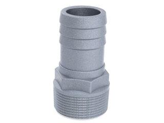 """4549 - ESPIGÃO ALUMÍNIO 1. 1/4NPT MACHO P/ MANG. 32mm (1.1/4"""")"""