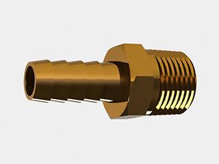 """2819 - ESPIGÃO LATÃO  3/8"""" NPT MACHO P/MANG. 10mm (3/8)"""