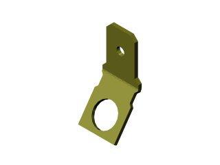 1569 - TERMINAL OLHAL ADAPTADOR 6,3mm (1/4) OLHAL/TERMINAL MACHO - BOBINA