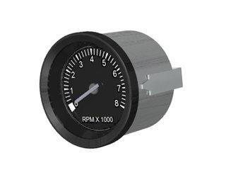 701 - INDICADOR CONTAGIROS 8000RPM TUR-PR(BOB) 85mm12/24V S/HORÍM