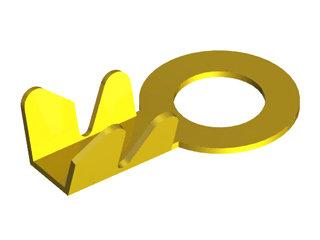 1028 - TERMINAL OLHAL 3/8 Pol (M10) FIO 10MM (LATÃO)