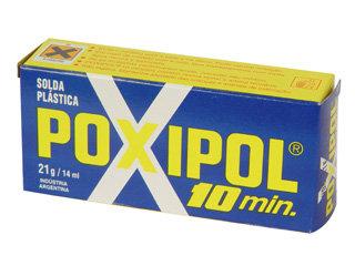 4187 - COLA EPOXI CINZA POXIPOL (21G) 10 MIN