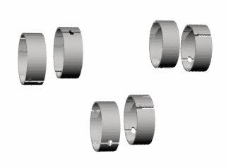 3074 - BRONZINA BIELA 0,25mm (0.010) (6CL) 4.3 HU DIÂMETRO 56.866-56989mm