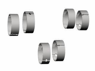 2830 - BRONZINA BIELA 0,50mm (0.020) (6CL) 4.3 (56.616-56.648)mm
