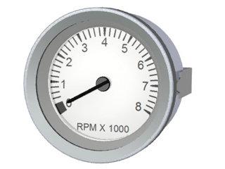 2201 - INDICADOR CONTAGIROS 8000RPM TUR-BR(BOB) 85mm 12/24V S/HORÍM