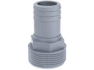 """4550 - ESPIGÃO ALUMINIO 1.1/2 NPT MACHO P/ MANG. 32mm (1.1/4"""")"""