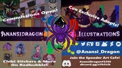 Anansi Dragon Illustrations