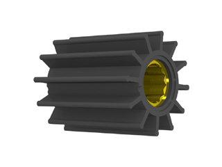 2357 - ROTOR B.DÁGUA 65-80mm EIXO25mm 12 ALH TAMD63;D6 (ESTRIADO)