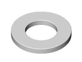 2874 - ARRU AÇO LISA M12,7 (1/2) (14x26,3-2,6)mm
