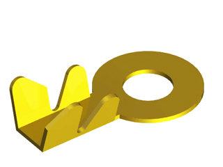 1029 - TERMINAL OLHAL M8 FIO 2,5MM (5/16 Pol)