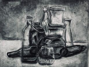 Glass Charcoal Study