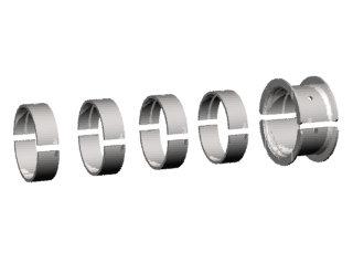 1706 - BRONZINA FIXA 0,25mm (0.010) (JG) 3.0;GM151;B25 - DIÂM 58,132-5