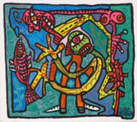 artiste pop art connu Robert Combas.jpg