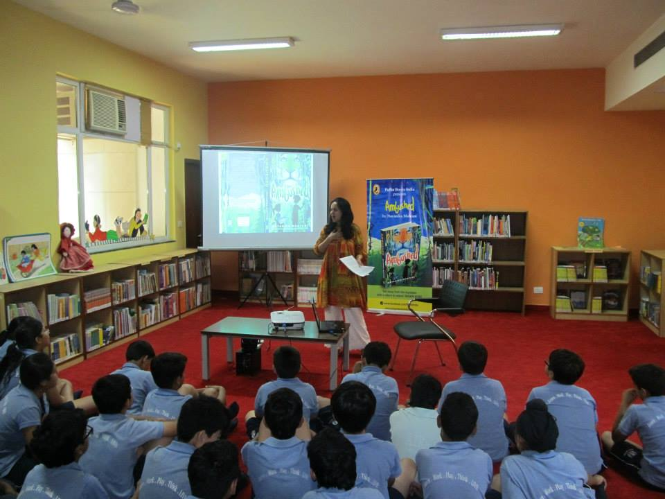 Author session at school