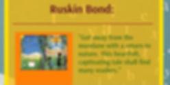 Ruskin's Bond's cover blurb for Ambushed