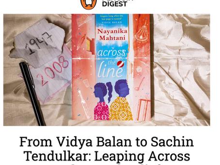 Deeply deeply grateful to Vidya Balan, Sachin Tendulkar for their ever generous words...
