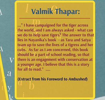 Valmik Thapar's Foreword for Ambushed