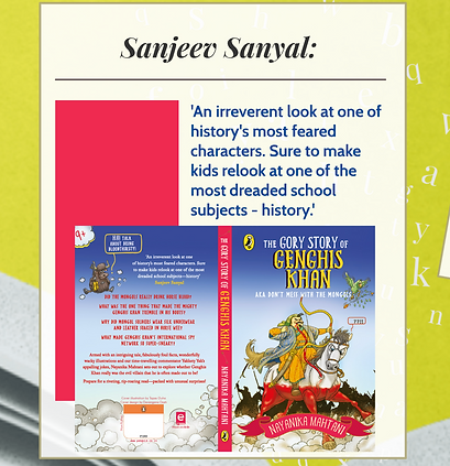Sanjeev Sanyal's review of The Gory Story of Genghis Khan