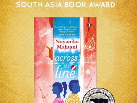 South Asia Book Award for Across the Line!