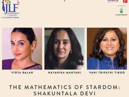 At the Jaipur Lit Fest with Vidya Balan to discuss our film Shakuntala Devi with Vani Tripathi Tikoo