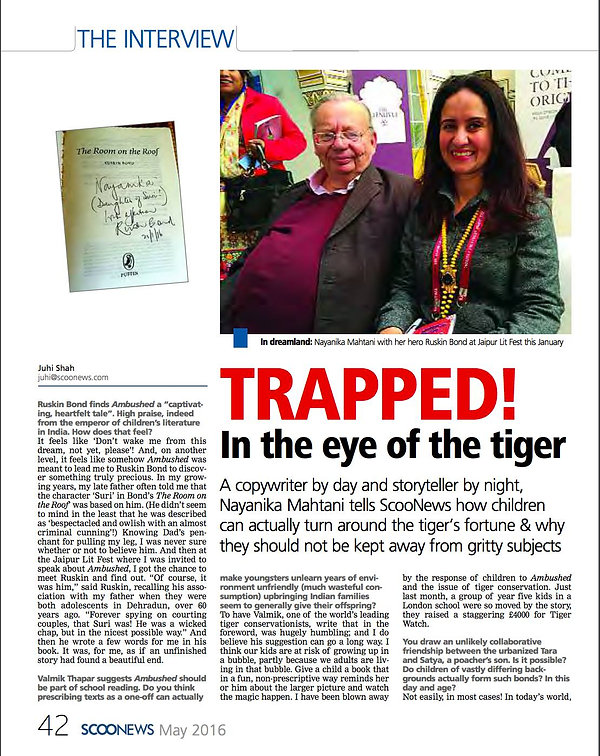 Interview with Nayanika Mahtani and Ruskin Bond photograph