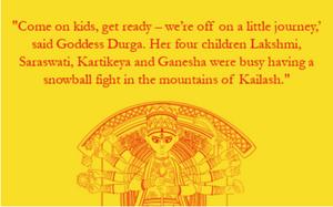 Durga Puja Story for kids nayanika mahtani