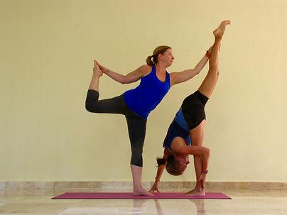 demi-split et le danseur