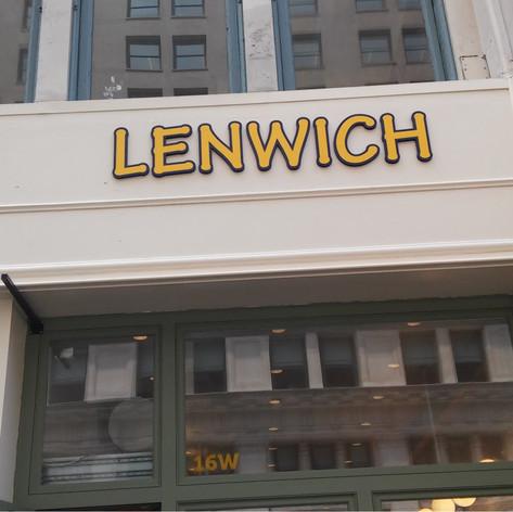 LENWICH - CUT / RAISED LETTERS