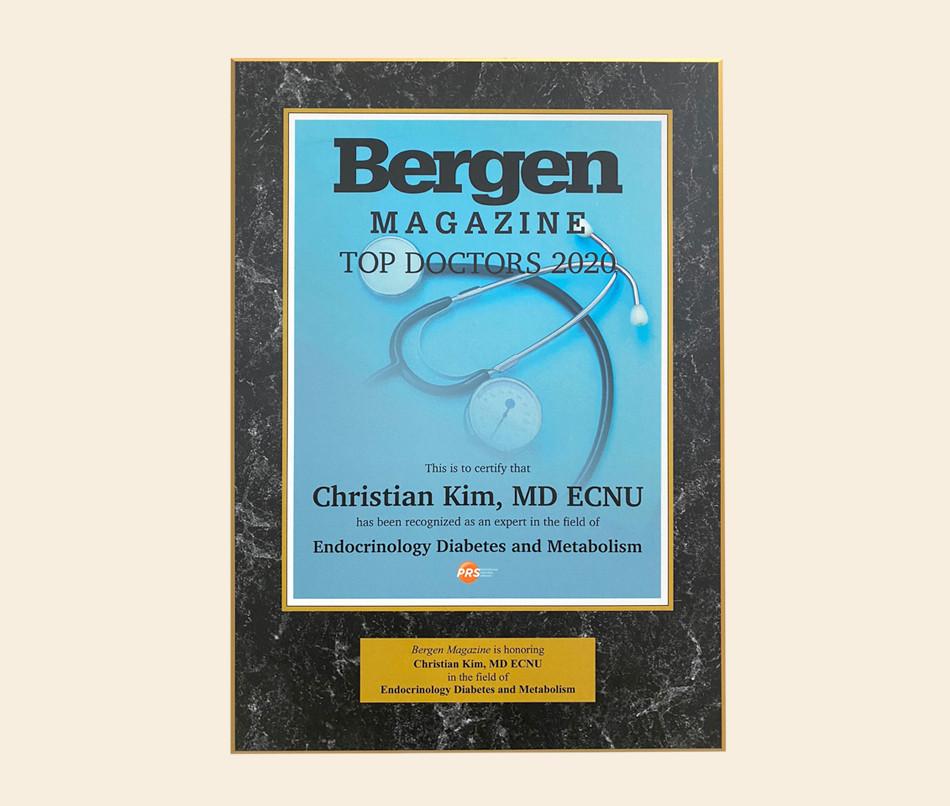 Bergen County Top Doctor 2020