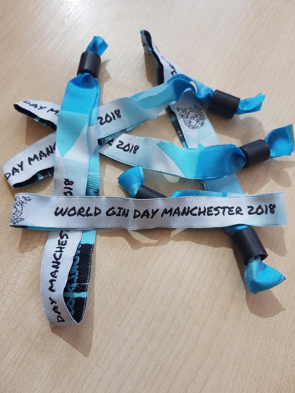 World Gin Day Manchester Wristbands 2018