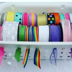 Create a ribbon dispenser ❤️#loveorganiz