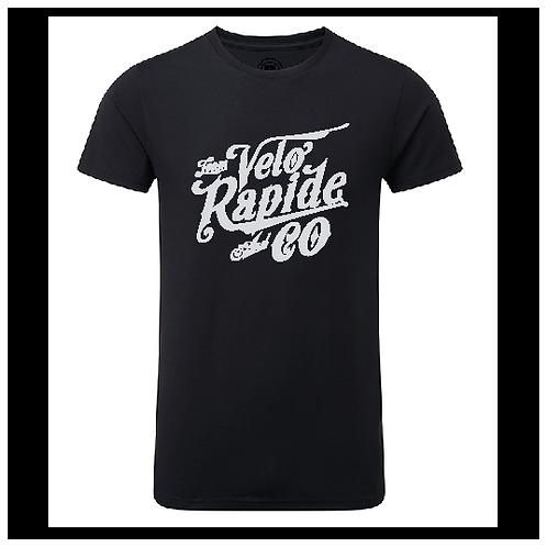 "Artnr 40204  T-shirt med silver-logo """"Team Velo"""