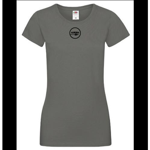 Grå T-shirt dam med tryck