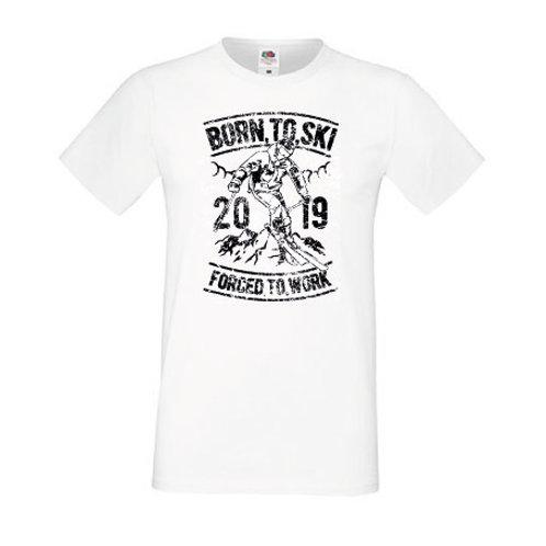 T-shirt Born to ski