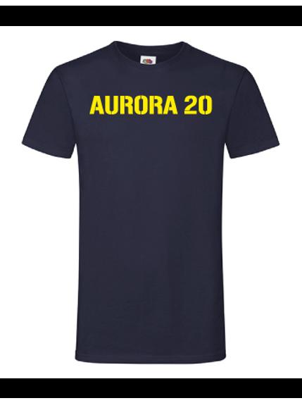 Blå T-shirt herr/unisex med tryck