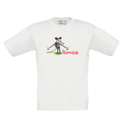 T-shirt Åremusen barnstorlekar
