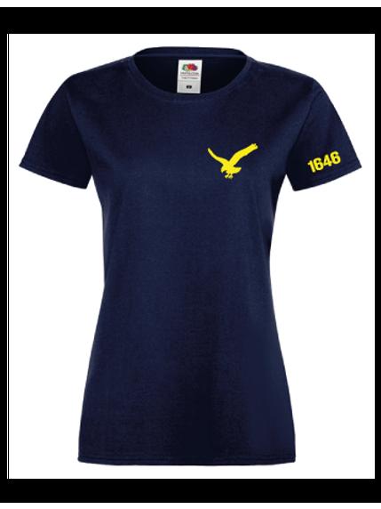 Blå T-shirt dam