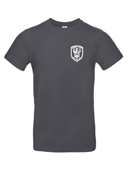T-shirts med vitt tryck