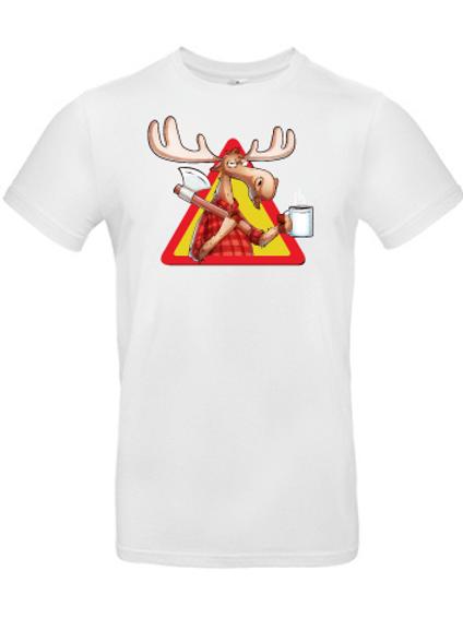 "T-shirt ""Rolf the moose"" vit"