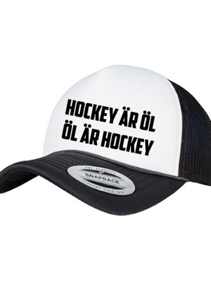 """Keps """" Hockey är öl"""""""