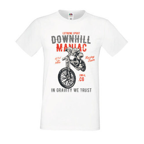 T-shirt Downhill maniac