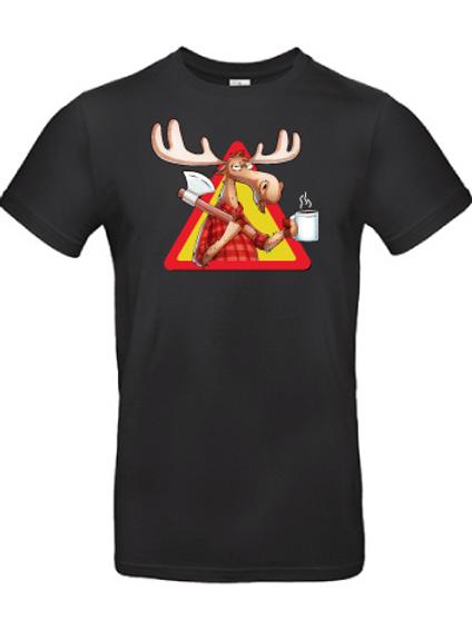 """T-shirt """"Rolf the moose"""" svart"""